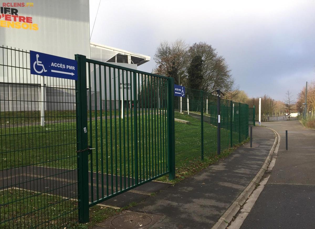 Accès PMR stade Bollaert-Delelis