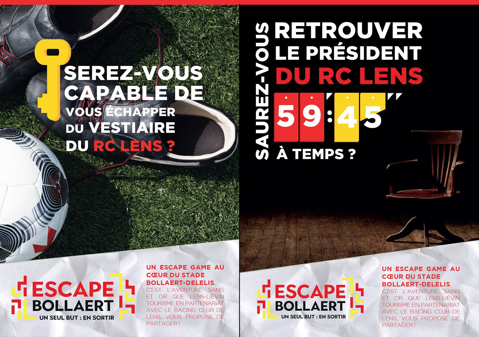 Escape Bollaert rclens Lens Liévin Tourisme