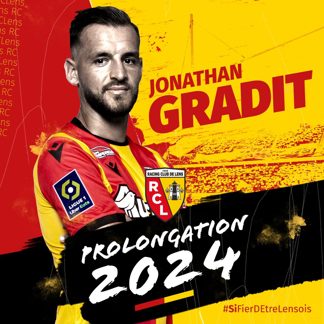 Prolongation pour Jonathan Gradit rclens