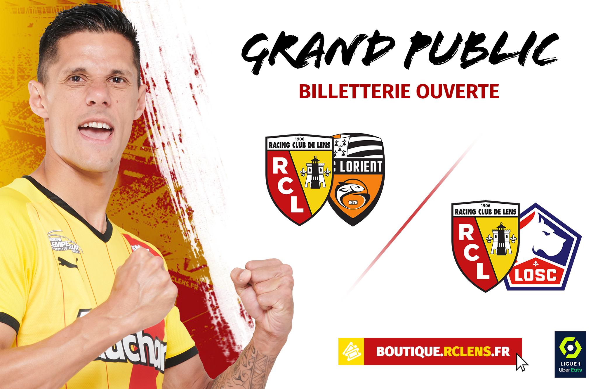 Billetterie RC Lens FC Lorient LOSC