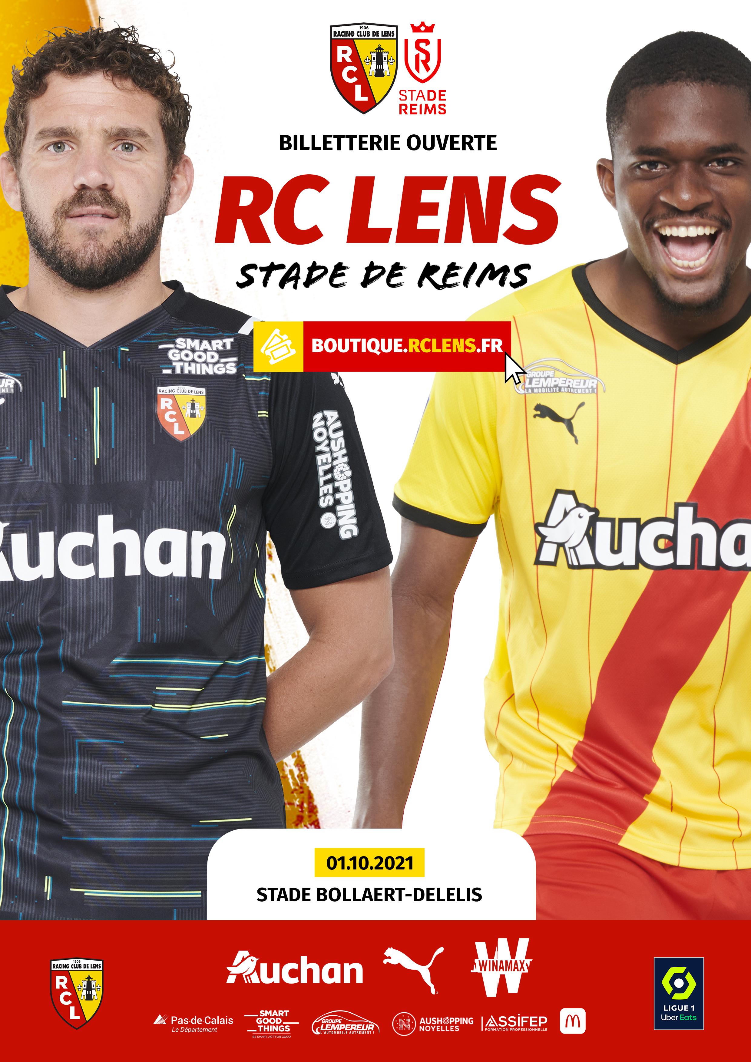 Billetterie RC Lens Stade de Reims