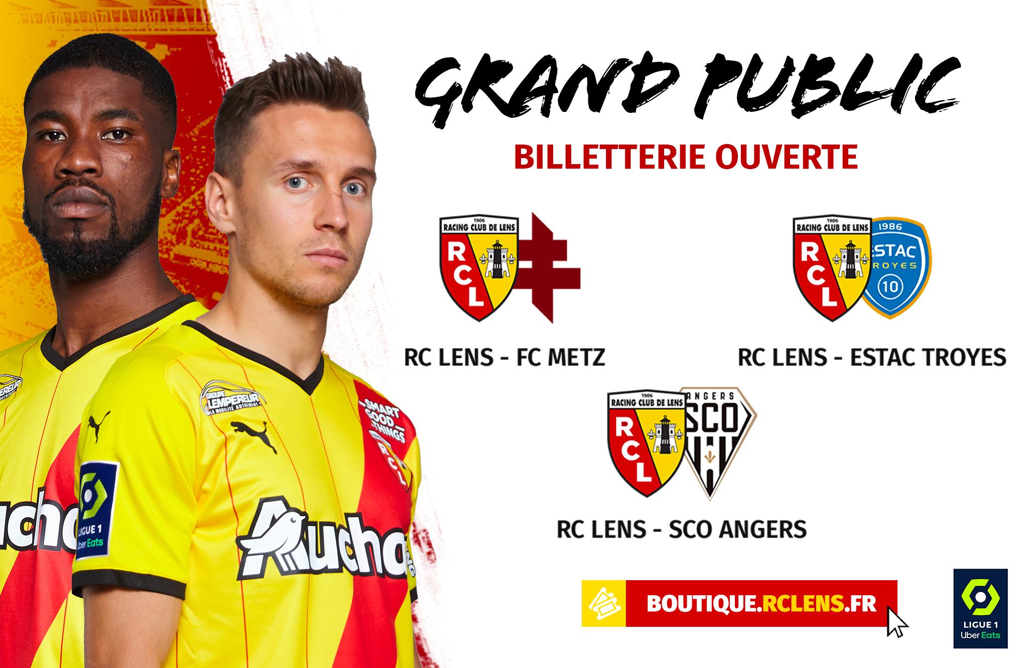 Metz, Troyes, Angers : la billetterie ouverte