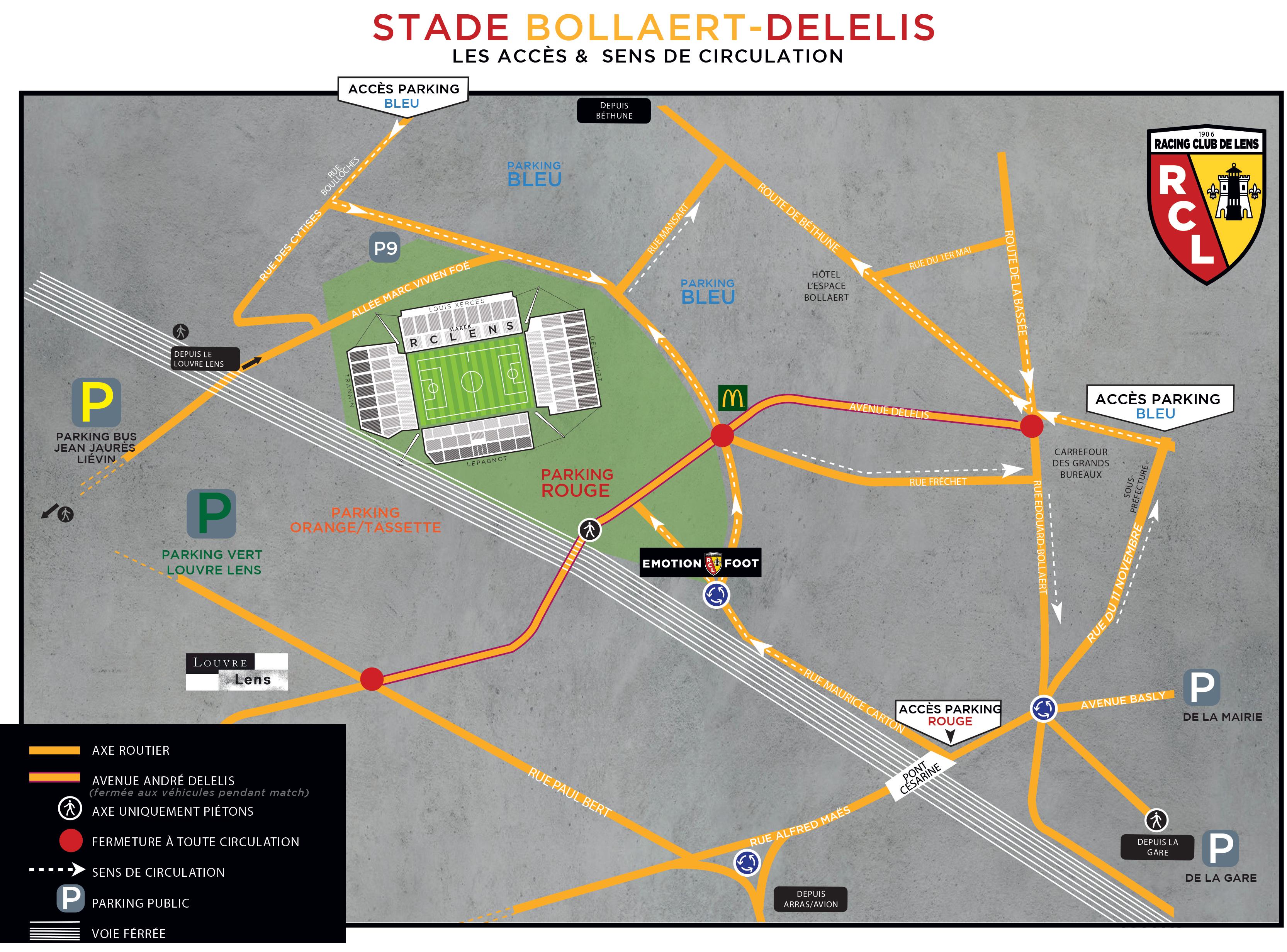 21-22 parkings stade Bollaert-Delelis