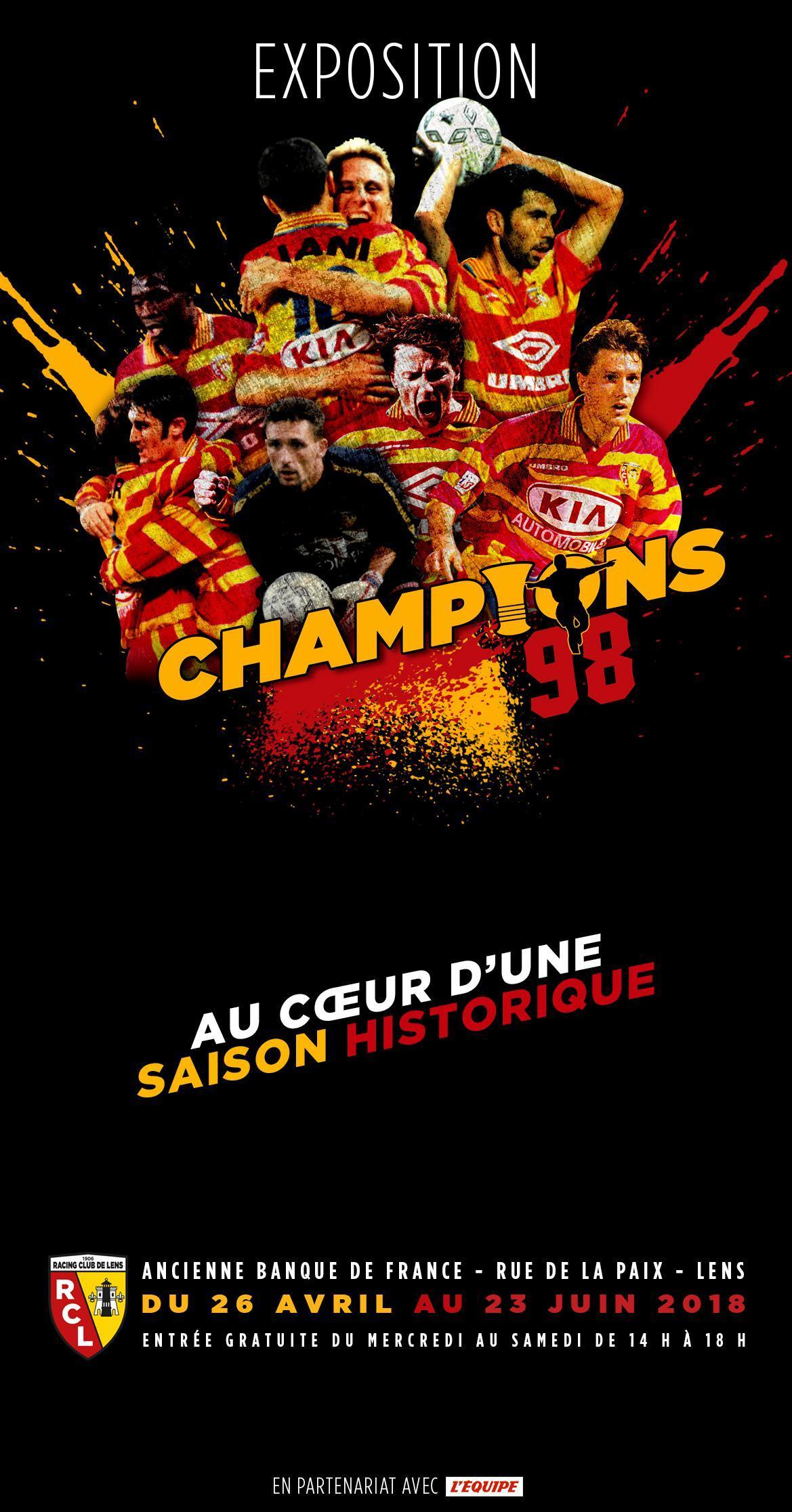 """L'expo """"Champions 98 - Au cœur d'une saison historique"""" ouvre ses portes !"""