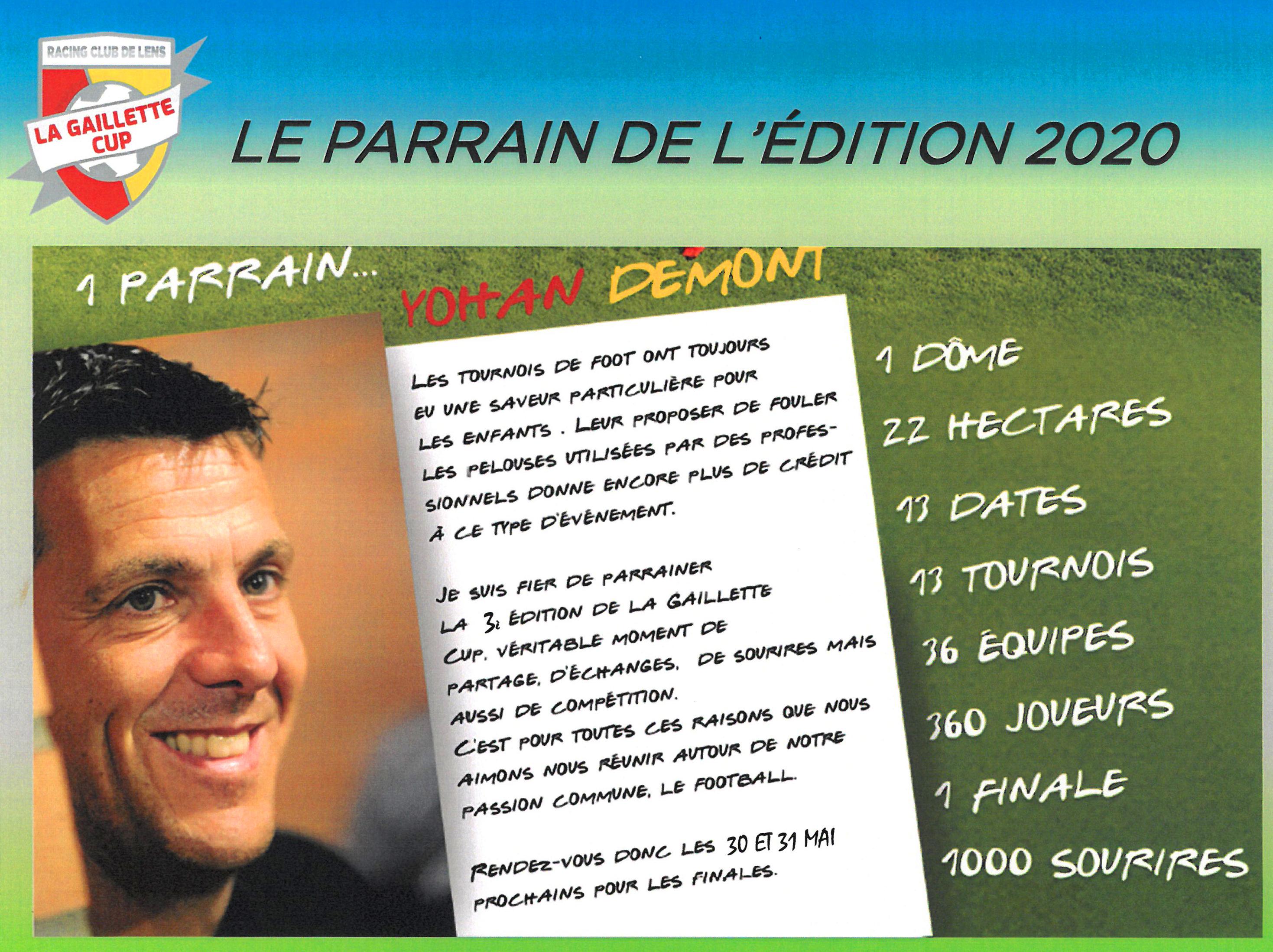 La Gaillette Cup 2020 rclens parrain Yohan Démont