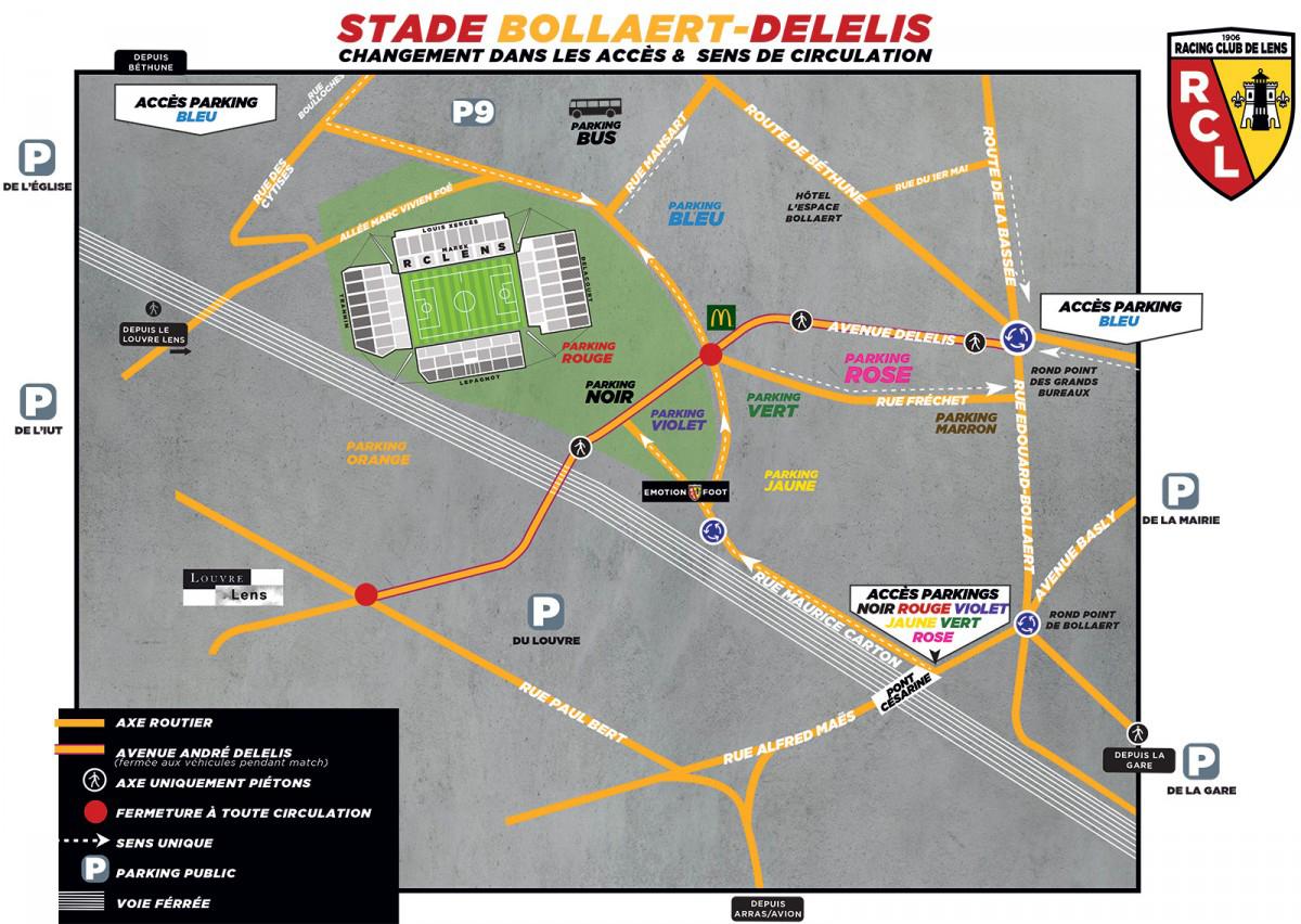 Plan stade Bollaert-Delelis rclens