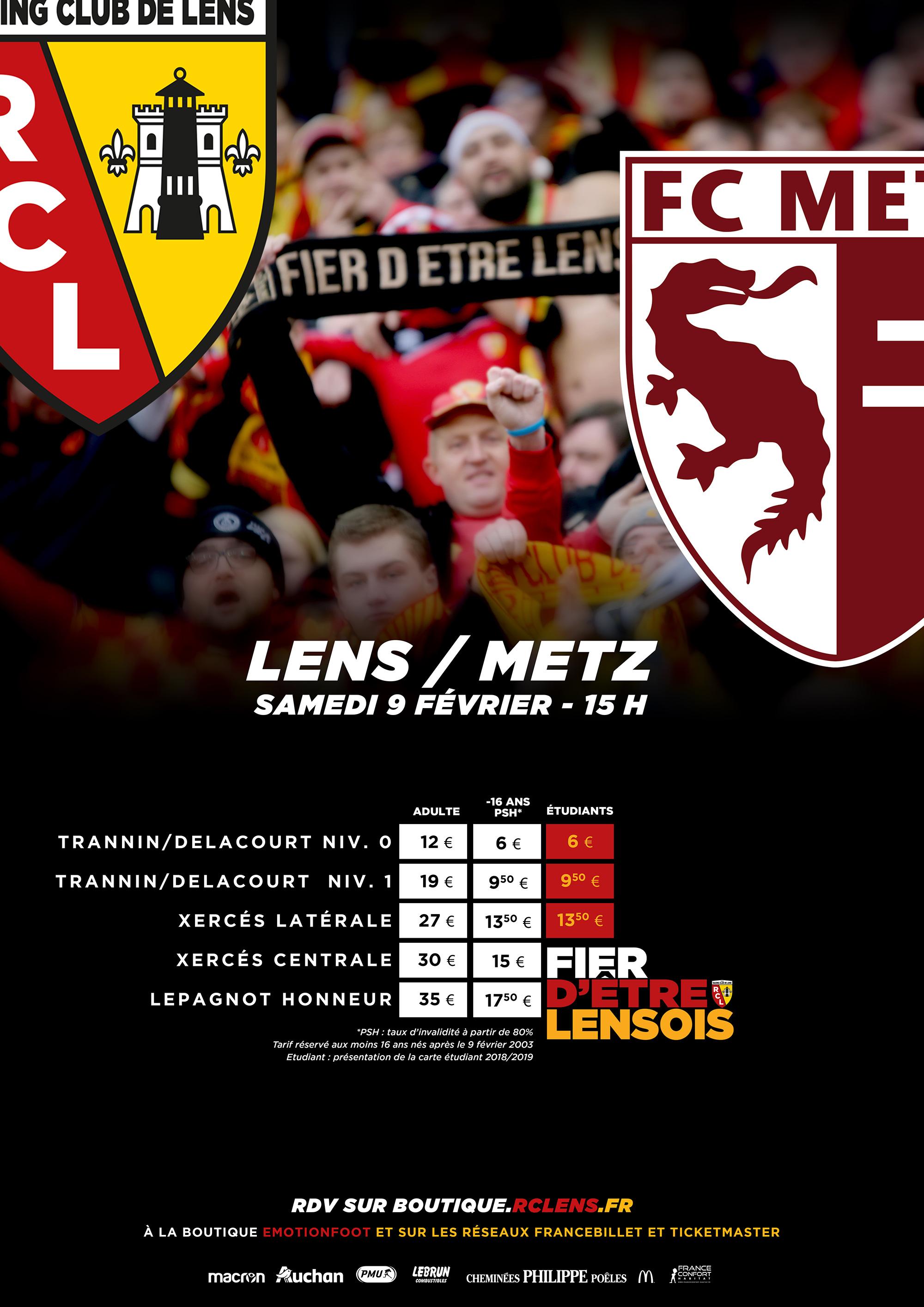 Assistez à Lens - Metz : billetterie / tarifs