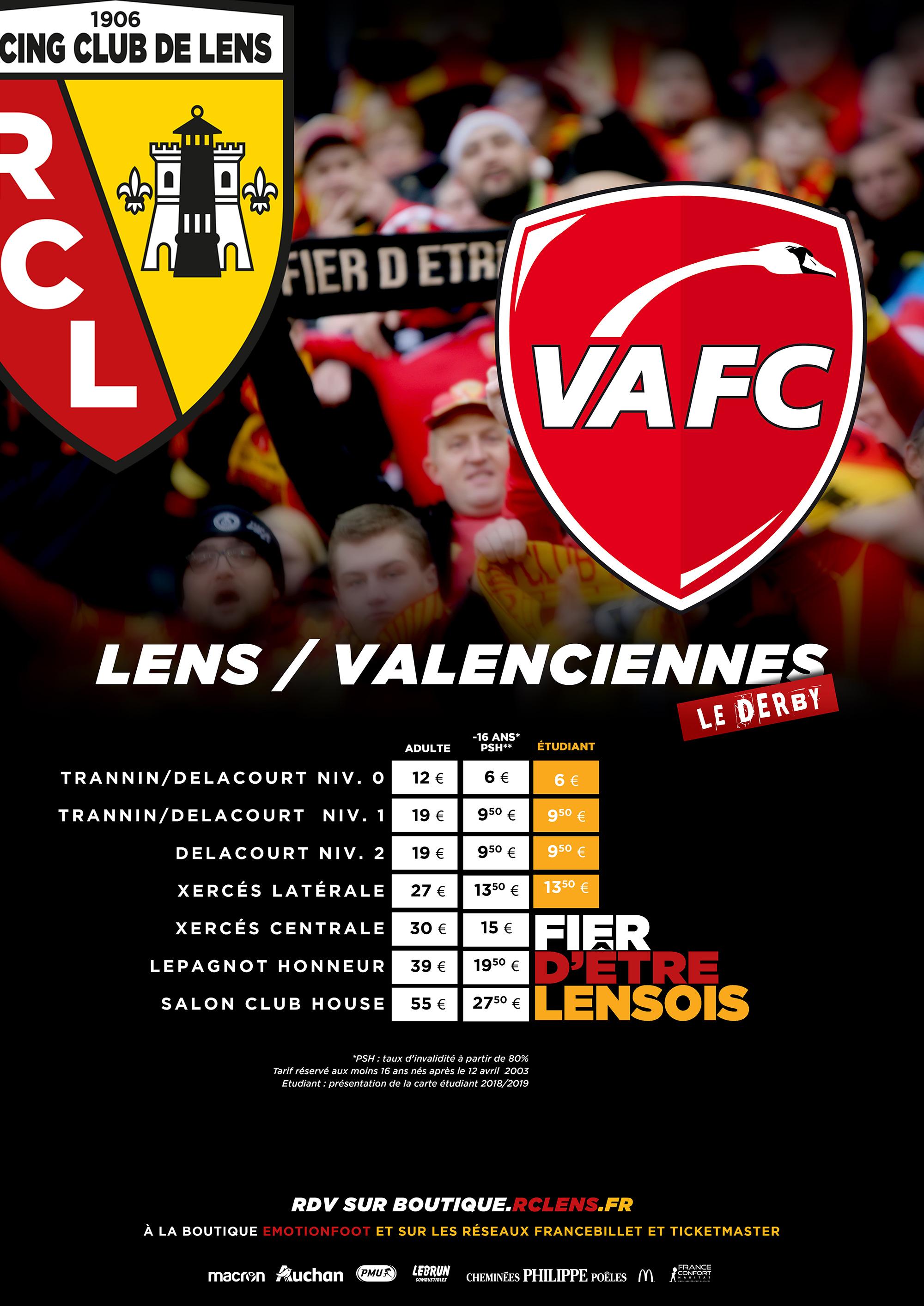 Lens - Valenciennes: billetterie et tarifs