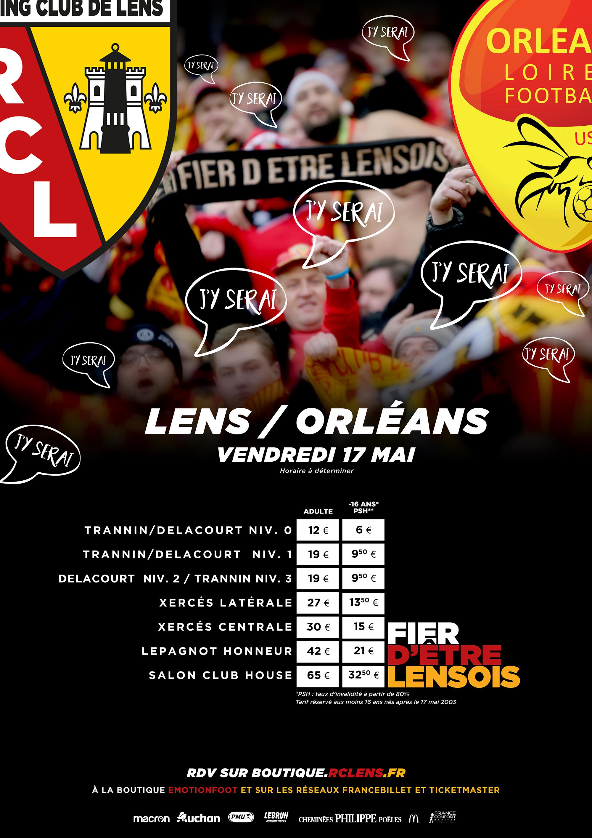 Lens - Orléans billetterie tarifs