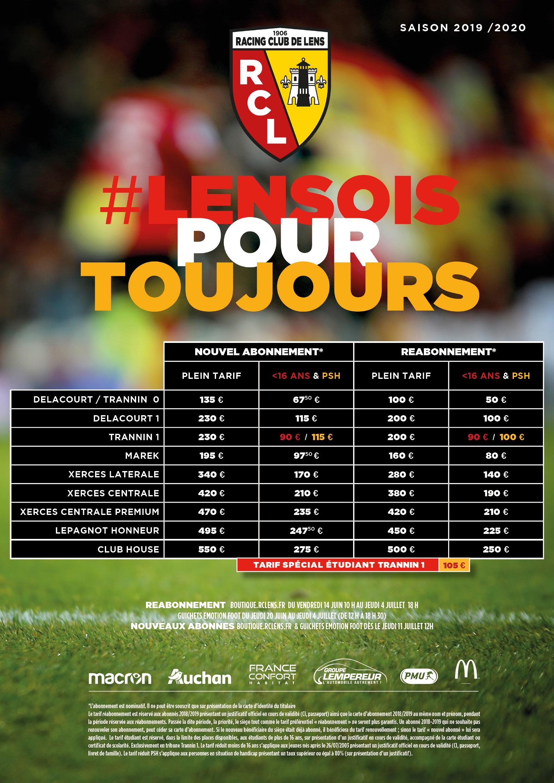 Calendrier Match Lens.Abonnez Vous Pour La Saison 2019 2020 Rc Lens